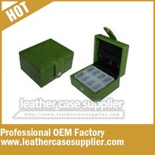 8 day green croc style pill box /weekly pill case /pill organizer