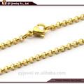 Cadena de Oro Chapado acero inoxidable y collar de perlas