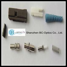 SC/UPC FC/APC SM MM colorful boot optic fiber connectors