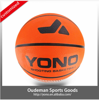 custom print official size custom cheap rubber basketball for training/match