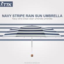 TTK Navy seaman striped custom umbrella tilt mechanism for patio umbrella fishing umbrella bottle umbrella