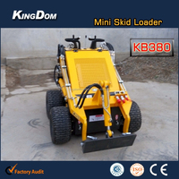 Mini Track Skid Steer Wheel Loader With Snow Blower
