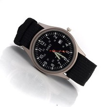 Brand high quality clothing men's watch canvas leisure fashion men sport watches with calendar