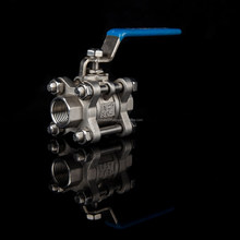 high quality 150lb npt threaded 2 inch 3-pc ball valve ss 201 for gas