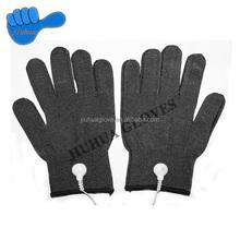 Nylon gloves for massage, facial massage silver fiber gloves