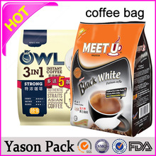Yason instant coffee bag jute coffee bag kraft paper coffee bags with a flat bottom and an easy to use tin tie closure