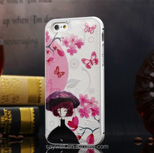 High Quality PU Leather Mobile Case with Printing for Iphone6
