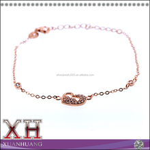 High Quality Sterling Silver Best Wholesale Heart Shaped Bracelet