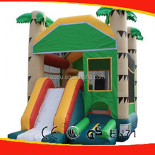 Topical Palm Tree inflatable bouncers With slide
