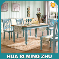 American rurality style solid wood dining table 1.4M and chairs