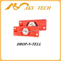 drop-n-tell vibration monitor transportation monitoring label sticker