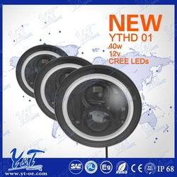 full size Y&T Y&T affordable ECE DOT with angel eyes Low high beam 7 inch dot approved 4x4 led lights