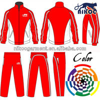 red/white breathable team tracksuits sportswear