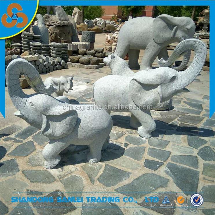 grey granite elephant statue
