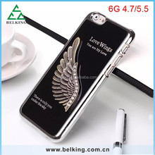Angel Wings Brushed Case For iPhone 6, for iPhone 6 Metal Case, Hard Case for iPhone 6