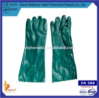 Long Cuff PVC Coated Gloves For Oil Worker