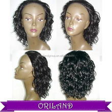 Front lace wig full wigs 100% remy indian best quality synthetic brazilian human hair wig