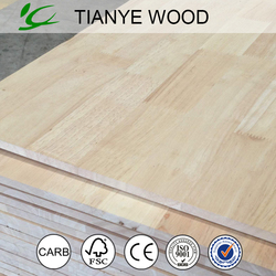 Melamine rubber wood finger joint board/fibreboard/melamine laminated board