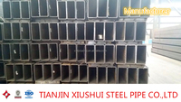 geological pipe rectangular galvanized steel 75*25