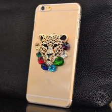 The Unique Transparent cover-jewel leopard phone case for iphone for women