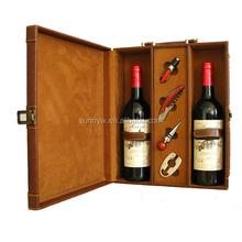 pu leather wine carrier for two bottles