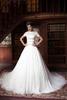 JNZX08 Short Sleeve Plus Size Bridal Gowns Strapless Muslim Wedding Dress