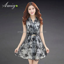 2015 UK new dress design plus size zipper v neck fashion dress hong kong new arrival