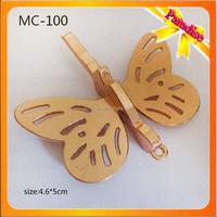 MC100 Custom made metal logo charms for garment butterfly logo charms