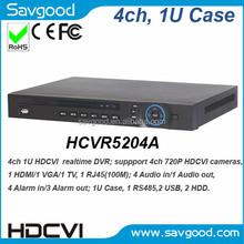 Dahua HCVR5204A 4ch input 2x HDDs 1U Case HDCVI digital video recorder