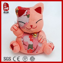 Chinese factory Lovely customized pink cat plush japanese cat