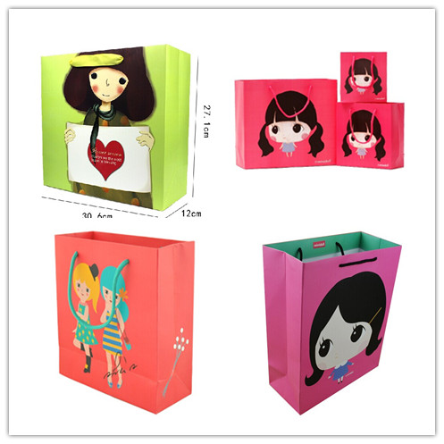 2014 new design fashion paper shopping bags