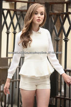 estilo europa dama blusa de moda
