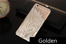 Wholesale Price Simple and Generous Eternal Gold Angel Wings Electroplate Mobile Phone Shell/Case for Iphone6&6Plus