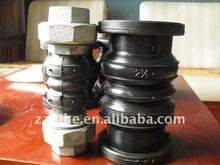 highly flexible and high pressure threaded rubber joint