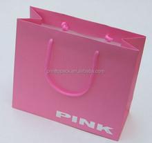 Pink cute colour printing shopping bag