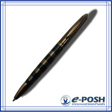 Chocoolate brown style parker gel black color ink refill metal ballpoint pen