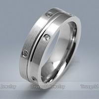 Wholesale New Design Fashion Platinum Diamond Finger Rings