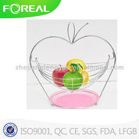 Apple shape swing fruit basket with plastic tray