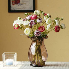 YiWu Sevenriver top brand 2 head Cheap artificial Camellia flower wholesale for home and garden decoration