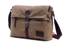 Hot Sale Casual Canvas Men Sport Shoulder Travel Bag College Student School Briefcase Messenger Bag