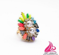 New Arrival Flower Pearl Fashion Engagement Brand Finger Ring