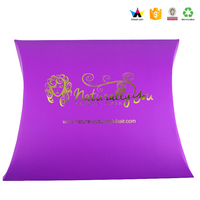 Hight quality wholesale custom large paper pillow box with handle