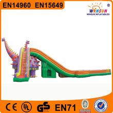 EN14960 Standard Popular giant dragon inflatable slide water beach