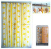 Plastic shower curtain rod covers shower curtain