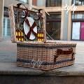 cesta de vime cesta com tampa atacado