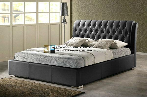 Moderna cama muebles con un bonito - hecho a mano de cabecera