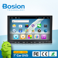 7 inch capacitive touch screen universal car automobile DVD player with GPS 3D UI WIFI Radio Bluetooth