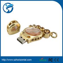 2-4GB footprint shaped jewelry diamond usb flash drive