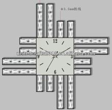 hotsale diy design individuality large led digital wall clock
