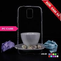 Ultra Slim Transparent Crystal Hard plastic case for samsung galaxy s5